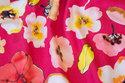 Pink og rød bomuldsjersey med blomster