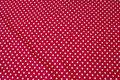 Rød bomuldsjersey med hvide 8 mm prikker