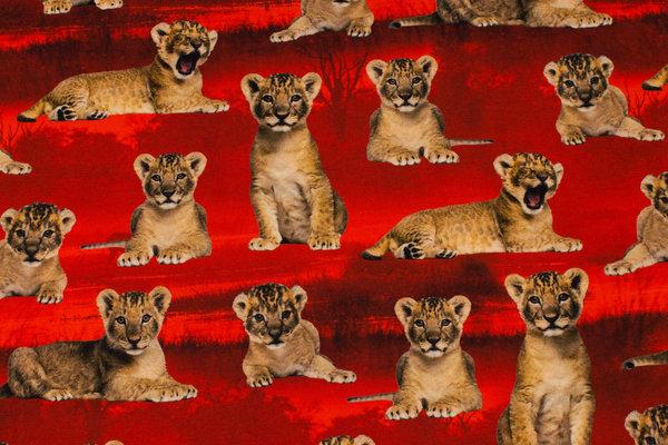 Rød bomuldsjersey med Løvernes Konge