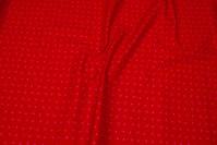 Rød petrol bomuld med pink 7 mm stjerner