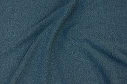 Ruet bomuldsstrik i meleret dueblå (ligner uldstrik)