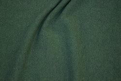 Ruet bomuldsstrik i meleret mandelgrøn (ligner uldstrik)
