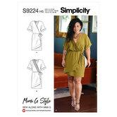 Slå-om kjole. Simplicity 9224.