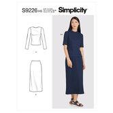 Strik toppe og nederdel. Simplicity 9226.