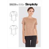 Strik t-bluse og skjorte. Simplicity 9229.