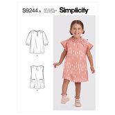 Småbørn kjoler. Simplicity 9244.