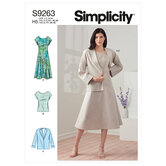 Kjole, jakke og top. Simplicity 9263.