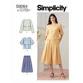 Toppe og pull-on nederdel. Simplicity 9264.