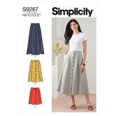 Nederdel i tre længder. Simplicity 9267.