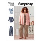 Jakke, strik-top og bukser. Simplicity 9269.
