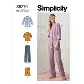 Toppe og bukser i to længder. Simplicity 9270.