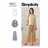 Jakke, top og bukser. Simplicity 9271.