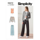 Strik cardigan top og bukser. Simplicity 9272.