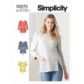 Strik toppe i to længder. Simplicity 9275.