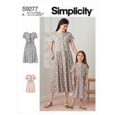 Børn kjoler. Simplicity 9277.