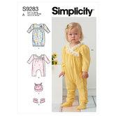 Barnestrik, kjole og dragt. Simplicity 9283.
