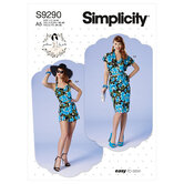 Petite bolero, bustier, sarong og shorts. Simplicity 9290.