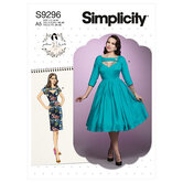 Kjole. Simplicity 9296.