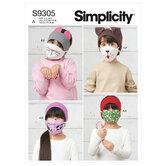 Hovedbånd, hårbånd, mundbind til børn. Simplicity 9305.