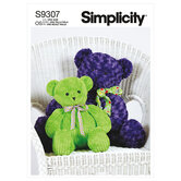 Tøjbjørnebamser i to størrelser. Simplicity 9307.