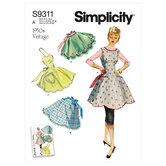 Vintage forklæde. Simplicity 9311.