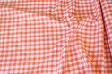 Sommerbomuld i orange med l cm tern