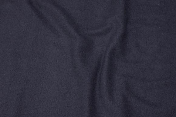 Sort uld-frakkevelour