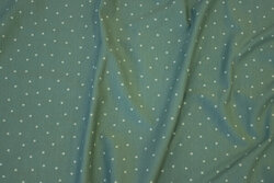 Støvgrøn bomuldsjersey med lysere mini-stjerner