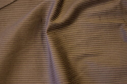Stræk-fløjl i mørk brun