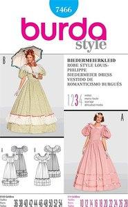 Biedermeier kjole. Burda 7466.