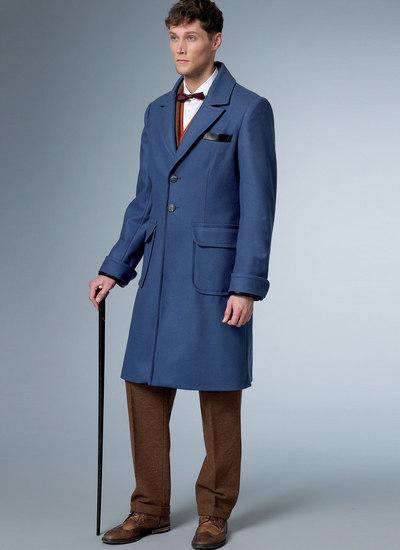 Foeret frakke og vest med bælte