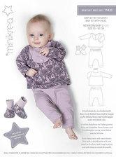 Babysæt med bukser og bluse. Minikrea 11420.