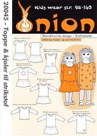 Toppe og kjoler til strikstof. Onion 20045.