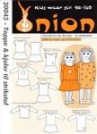 Onion 20045. Toppe og kjoler til strikstof.