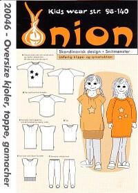 Oversize kjoler, toppe, gamacher. Onion 20046.