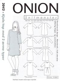 Kjole-top med 2 ærmetyper. Onion 2042.