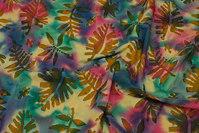 Batik-bomuld med bladmønster, 12 cm blade
