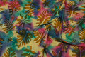 Batik-bomuld med bladmønster, 12 cm blade.