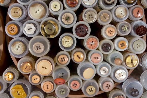 Beige-sarte knapper