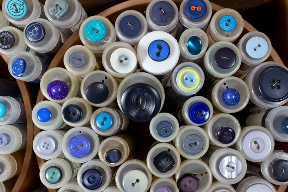 Blå knapper 4