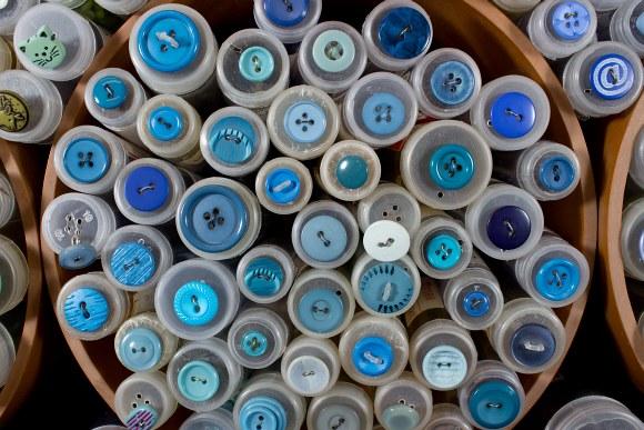 Blå knapper 6