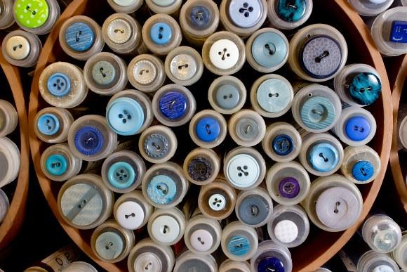 Blå knapper 8