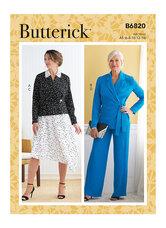 Jakke, nederdel og bukser. Butterick 6820.