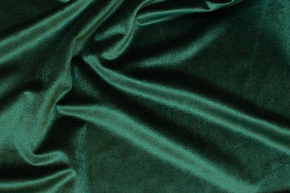 Flot flaskegrøn Rokoko-velour med let skinnende overflade