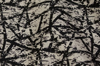 Hvid bomulds-satin med sort mønster