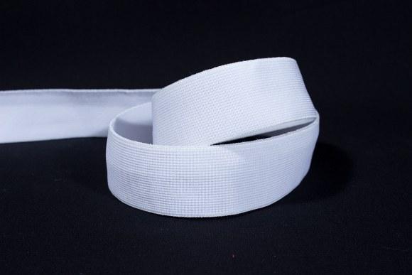 Hvid god fast elastik 2,5 cm bred
