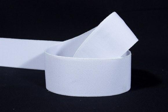 Hvid god fast elastik 3 cm bred