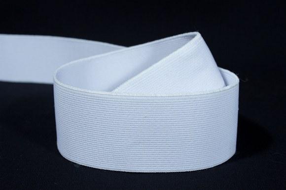 Hvid god fast elastik 4 cm bred