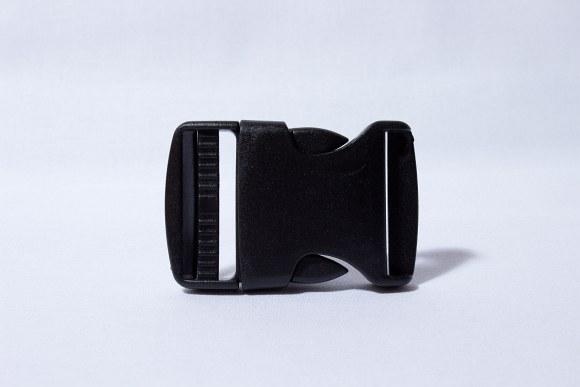 Klikspænde sort 2,5 cm