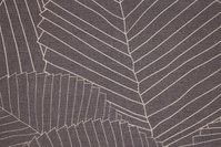 Kraftig textildug i grå med hvidt stregmønster